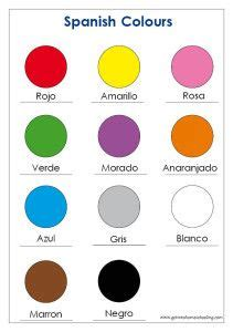 spanish colors how to say yellow in spanish learning spanish on pinterest 25 pins on spanish lessons