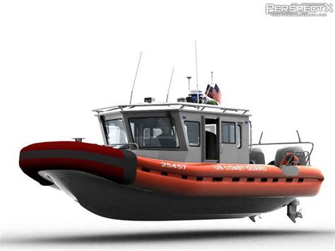 rb boats coast guard rb 101 patrol boat 3d model cgstudio