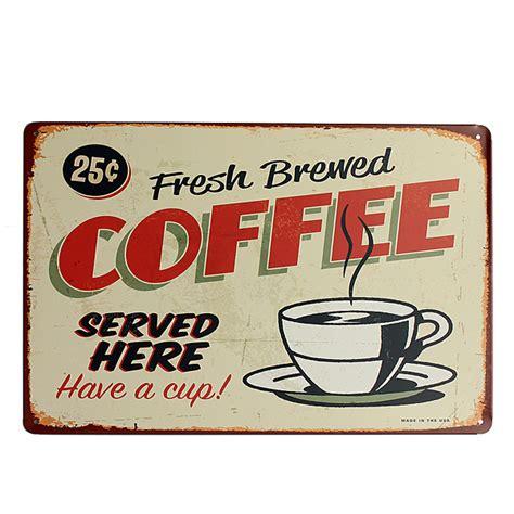 Free Online Home Decorating Games coffee tin sign retro vintage metal plaque bar pub cafe