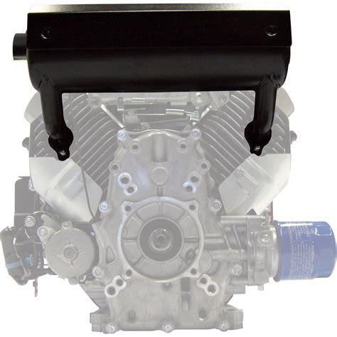 high mount muffler  honda  twin engines fits gx    engines leftstarter side