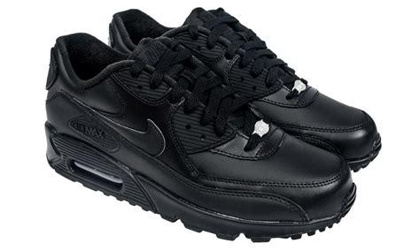 Nike Airmax 90 Cewek Abu 2 air max 90 black leather black running nikes