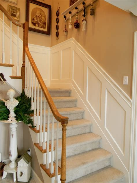 wainscoting stairs forever decorating stairwell wainscoting