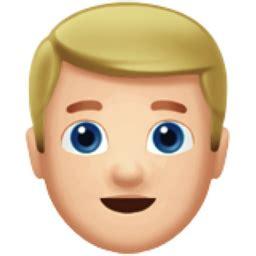 blond haired man light skin tone emoji uf uffb