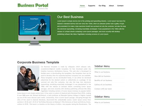 templates bootstrap portal business portal free bootstrap template for business