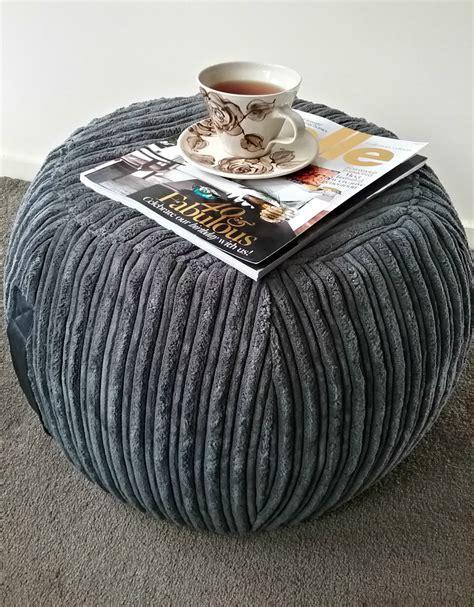 round bean bag ottoman ottoman pouf grey velvet pouf charcoal round pouf