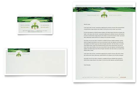 Golf Course Instruction Business Card Letterhead Template Word Publisher Golf Business Plan Template