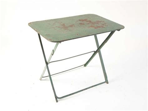 Green office furniture, small metal folding table small