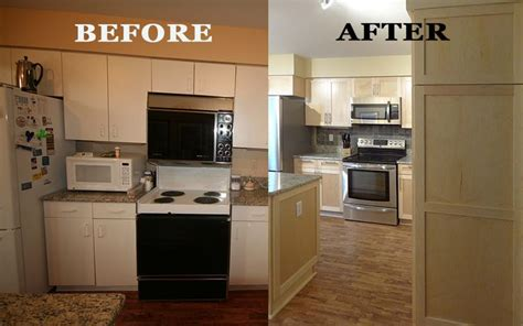 Kitchen Cabinet Refacing Before And After Photos Kitchen Refacing Project By Dreammaker Arbor Showing A Before And After Of The Kitchen