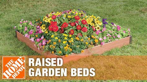 frame   raised garden beds  home depot youtube
