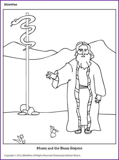 bronze snake coloring page 17 best bronze snake of moses images on pinterest