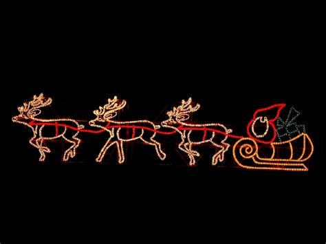 neon christmas decorations neon santa and reindeers decorations