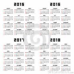Ecuador Calendã 2018 Calendar 2015 2016 2017 2018 Stock Vector Image 46283377