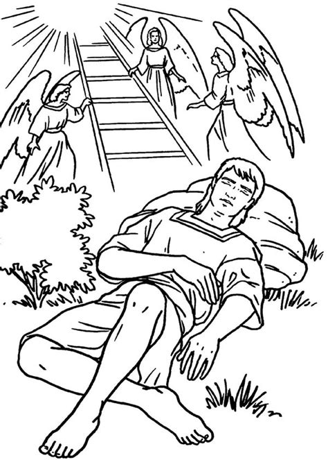 bible coloring pages jacob and esau jacobs ladders and angels in jacob and esau coloring page