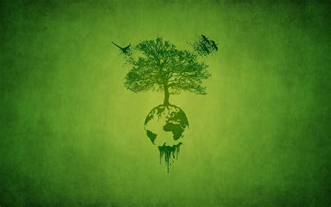 environmentally friendly trees earth tree birds green ecology minimalism hd