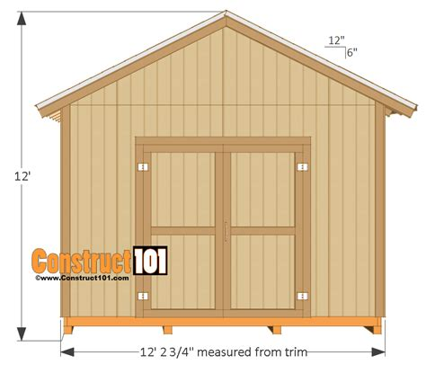 shed plans 12x16 shed plans gable design construct101