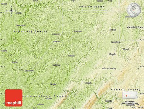 physical map of indiana physical map of indiana county