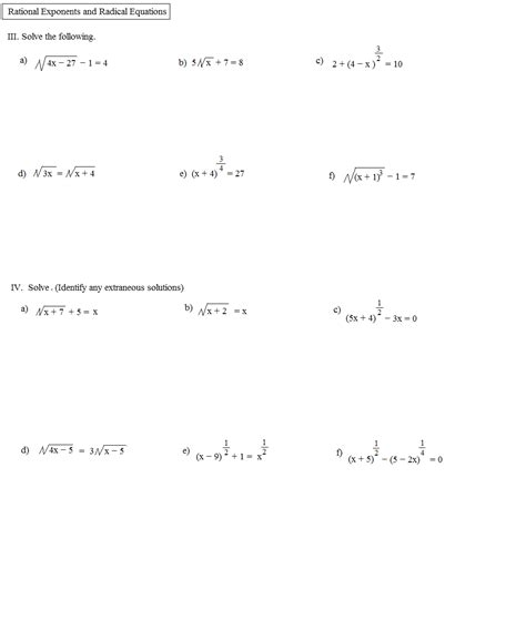 Rational Exponents Worksheet by Worksheets Radicals And Rational Exponents Worksheet