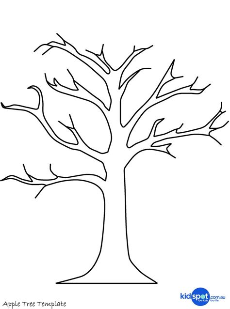 tree pattern without leaves coloring page tree tree craft cork st apple tree leaf template tree