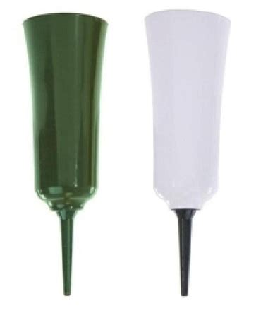 vo 2060 8 quot plastic cemetery vase with spike green or