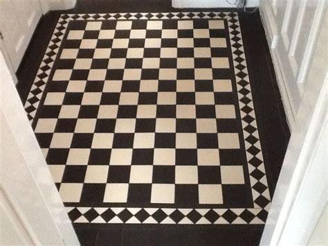 White And Black Kitchen Ideas victorian old english original style floor tiles
