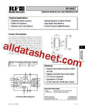 datasheet of rf diode rf9957 datasheet pdf rf micro devices