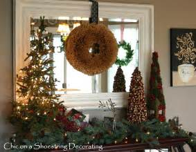 Crate And Barrel Chandelier Chic On A Shoestring Decorating A Rustic Christmas Vignette