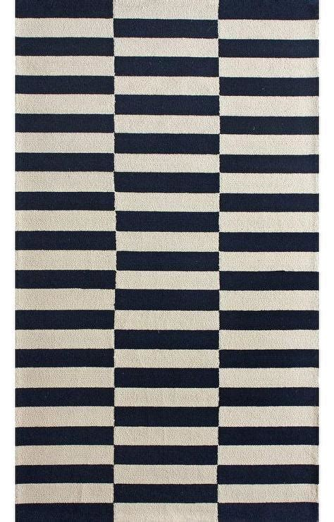 navy and white striped area rug homespun navy blocks rug