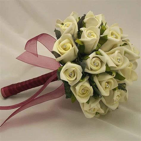 Bouquet Flower Arrangement For Wedding by Artificial Wedding Flowers
