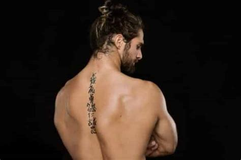 seth rollins tattoo spine tattoos for ideas and designs for guys