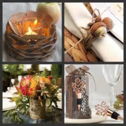 Weddings are fun blog diy autumn wedding tables decorations using