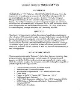 statement of work 7 free samples examples amp format