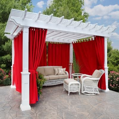 How Curtains Perk Up Your Outdoor Space Outdoor Pergola Curtains