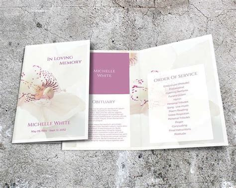 funeral leaflet template 37 funeral brochure templates free word psd pdf exle