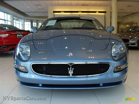 maserati light 2002 maserati coupe cambiocorsa in blue azurro light blue