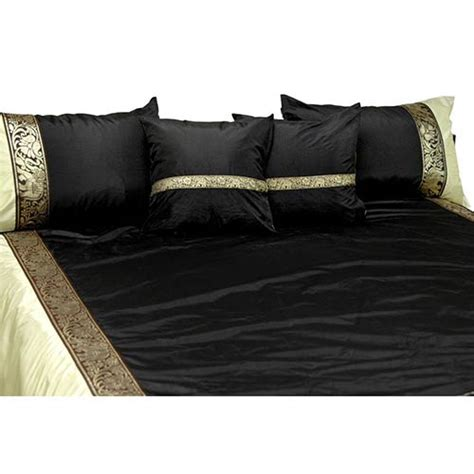black silk comforter silk bedding black silk thai elephant bedding