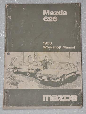 1983 Mazda 626 2 0l Original Factory Dealer Work Shop