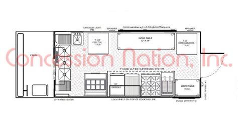 food truck floor plan floorplans food trucks fast food truck mobile kitchens