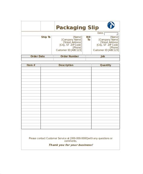 7 Shipping Slip Templates Sle Templates Shipping Template