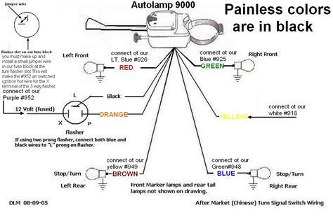 universal turn signal switch wiring diagram motorcycle turn signal wiring diagram tamahuproject org at