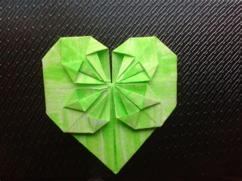 Mini Origami Hearts - mini origami blossom green by snoopysoap on deviantart