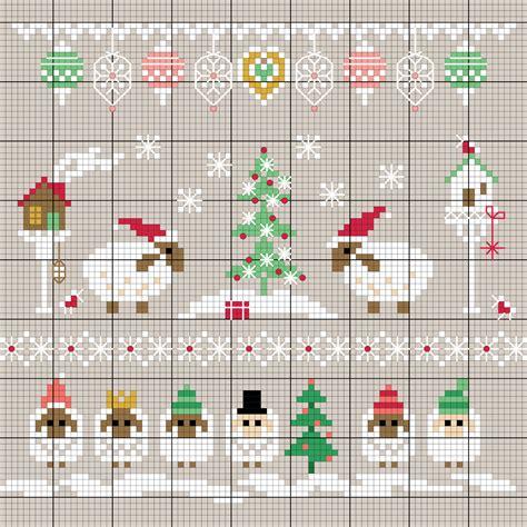 weihnachtliche schafe sticken entdecke zahlreiche kostenlose charts zum sticken