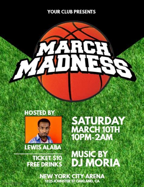 march madness basketball flyer template v1 free download photoshop