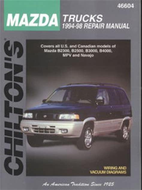 chilton car manuals free download 1994 mazda 323 navigation system chilton mazda trucks 1994 1998 repair manual