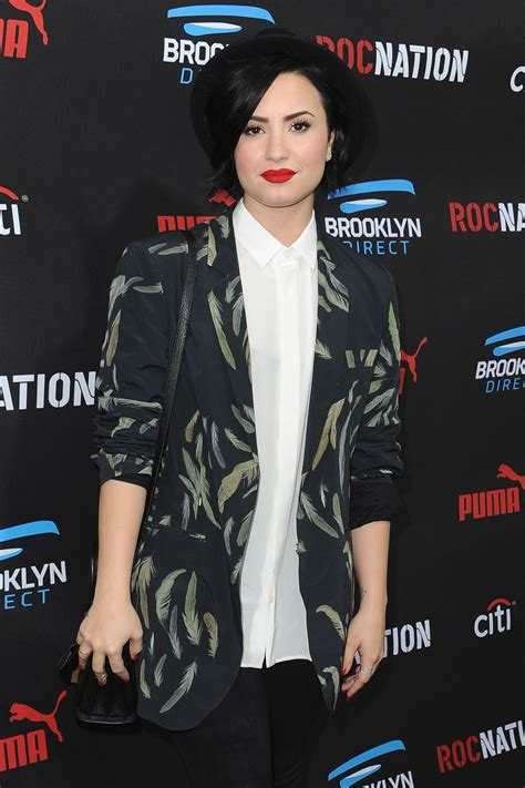 Is Demi Nation by Demi Lovato At Roc Nation Grammy Brunch Celebzz Celebzz