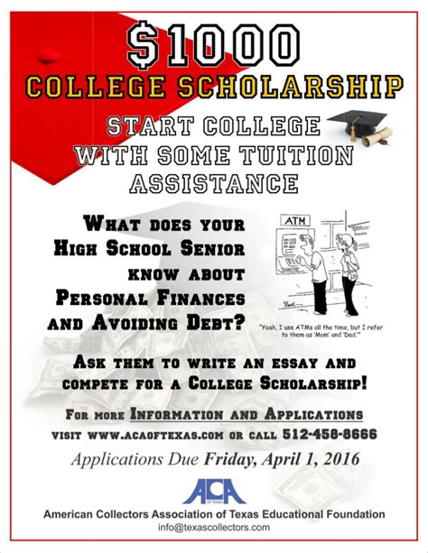 Scholarship Essay Contest Exles aca of the american collectors association of