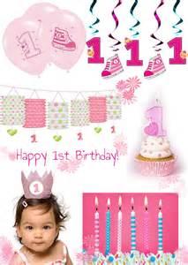 dekoration 1 geburtstag s 252 223 e deko f 252 r den 1 geburtstag in pink und blau baby
