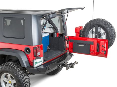 Jeep Wrangler Tailgate Rock Slide Actb100jty Tailgate Table For 07 17 Jeep