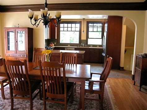 craftsman dining room design ideas remodels photos with craftsman bungalow kitchen 2010 traditional dining