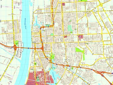 baton usa map baton map eps illustrator vector city maps usa
