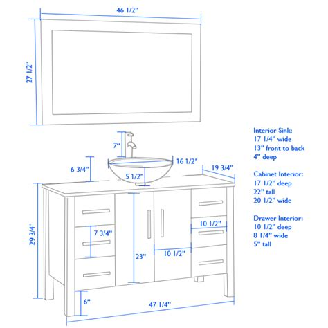what is the height of a bathroom sink cambridge plumbing 48 modern single vessel sink bathroom